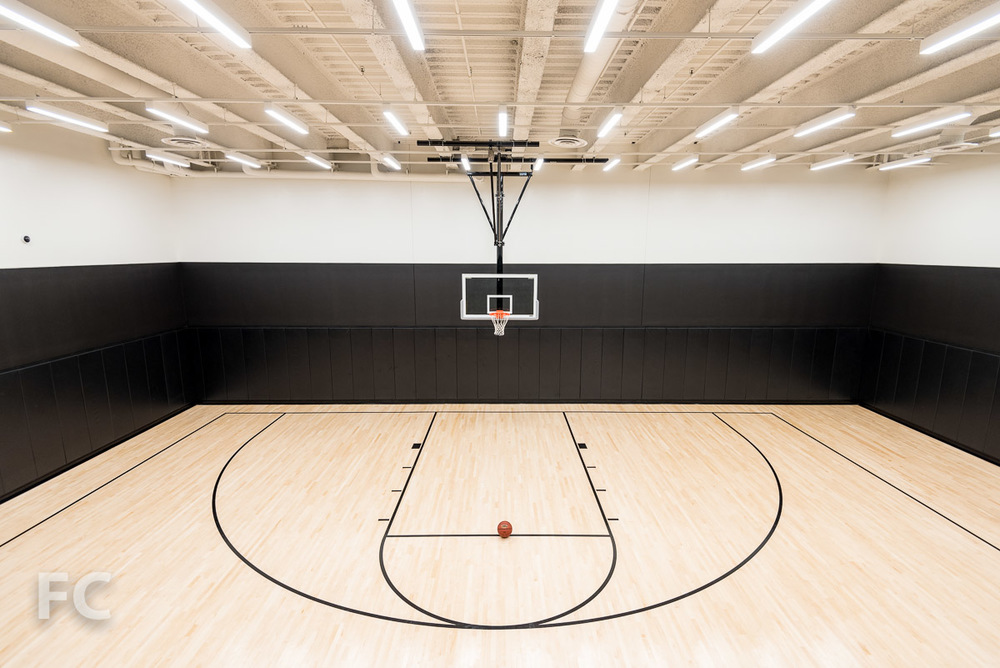 Indoor half basketball court.