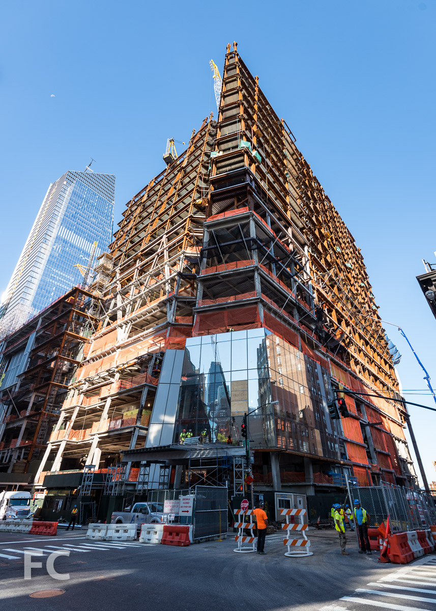 Northeast corner of 30 Hudson Yards.