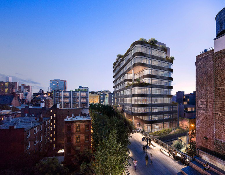 Rendering of 512 West 22nd Street by COOKFOX.