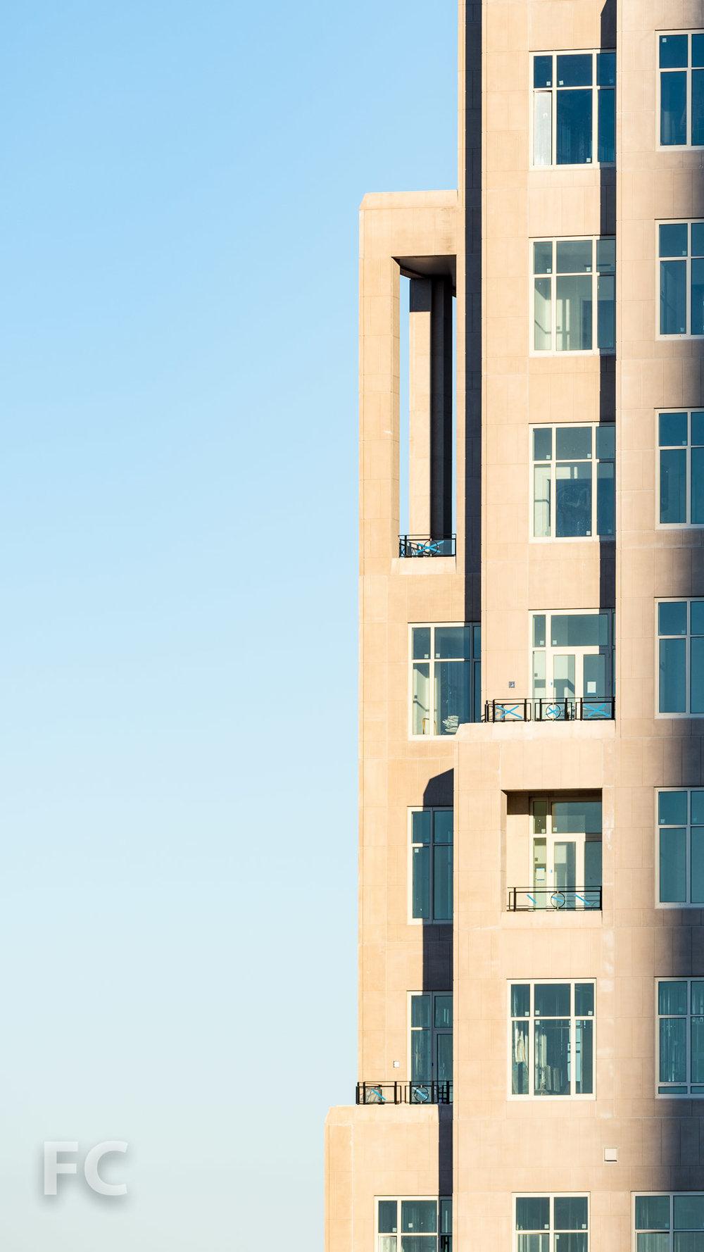 Penthouse balconies.