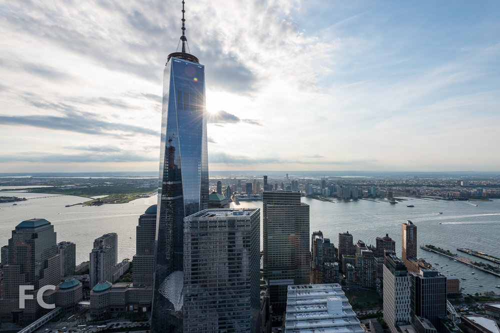 View of 1 World Trade Center and 7 World Trade Center from the penthouse.