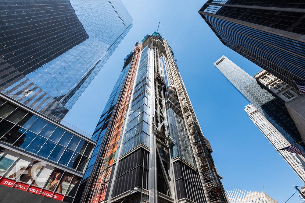Southeast corner of 3 World Trade Center.