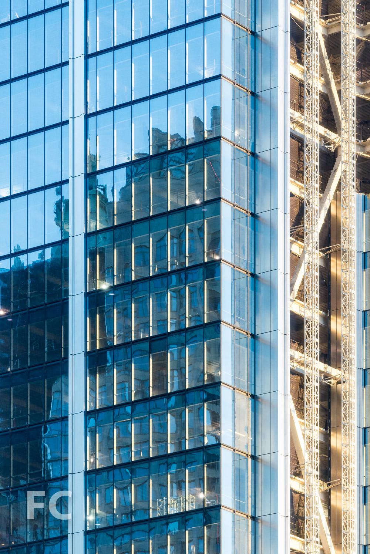 Close-up of the facade of 3 World Trade Center.
