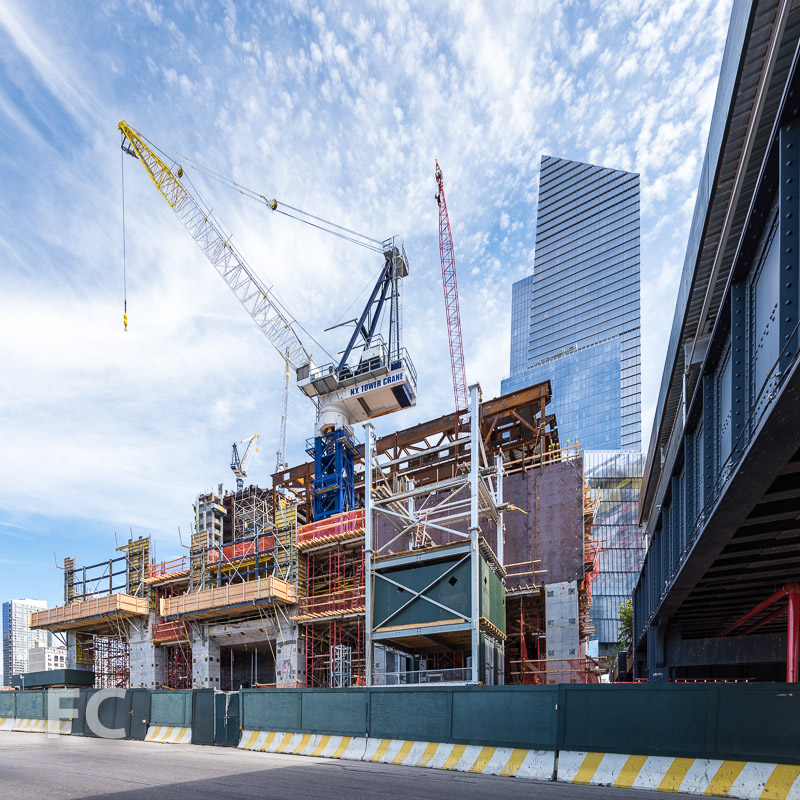 Southwest corner of 15 Hudson Yards.
