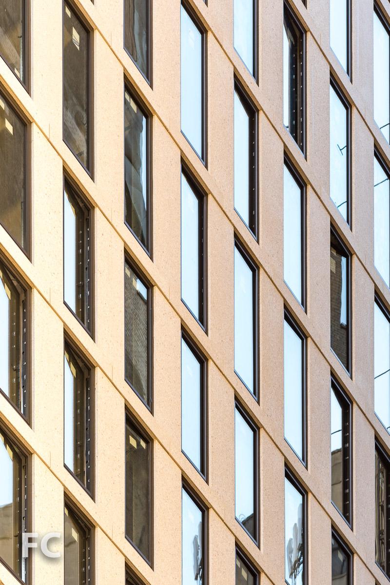 West facade detail.