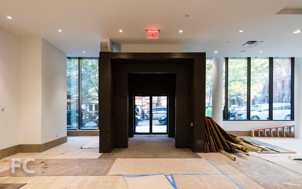 Lobby entry.