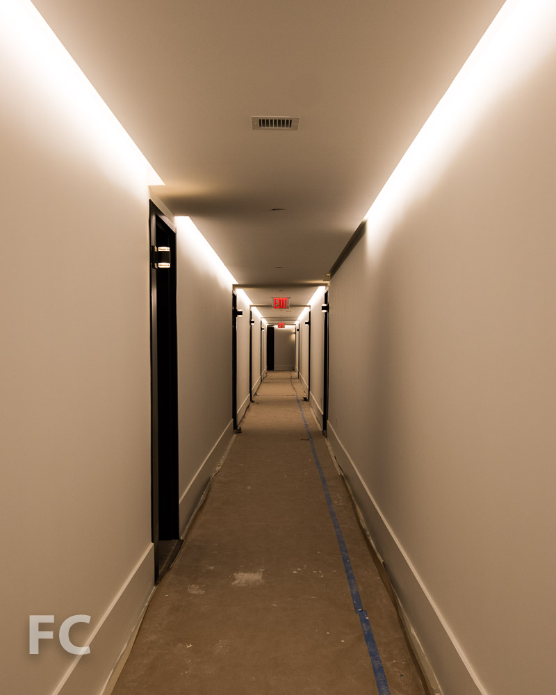 Residential corridor.