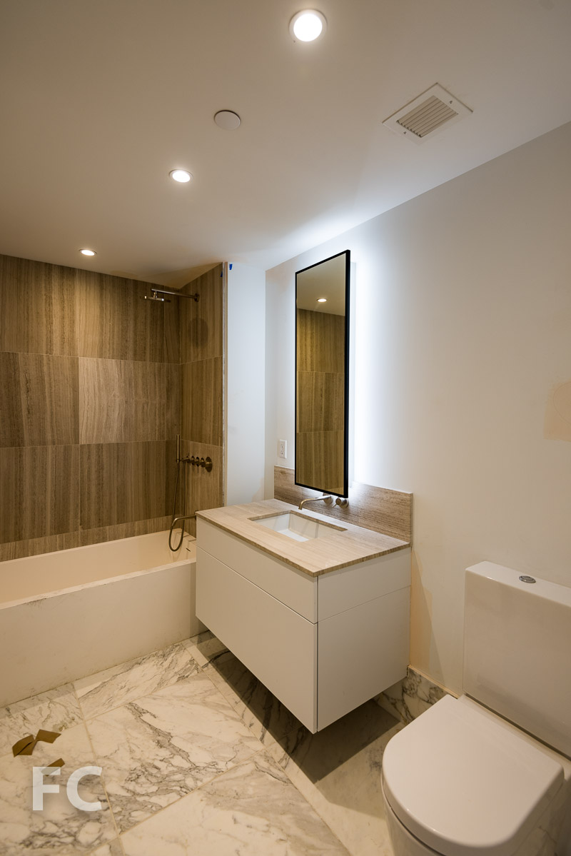 Bathroom in a residential unit.