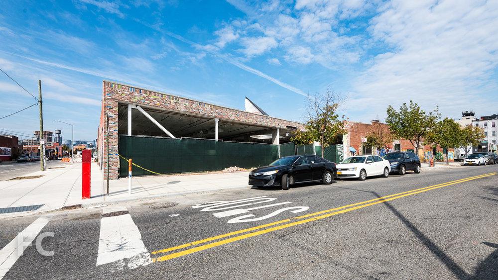 South facade from Norman Avenue.