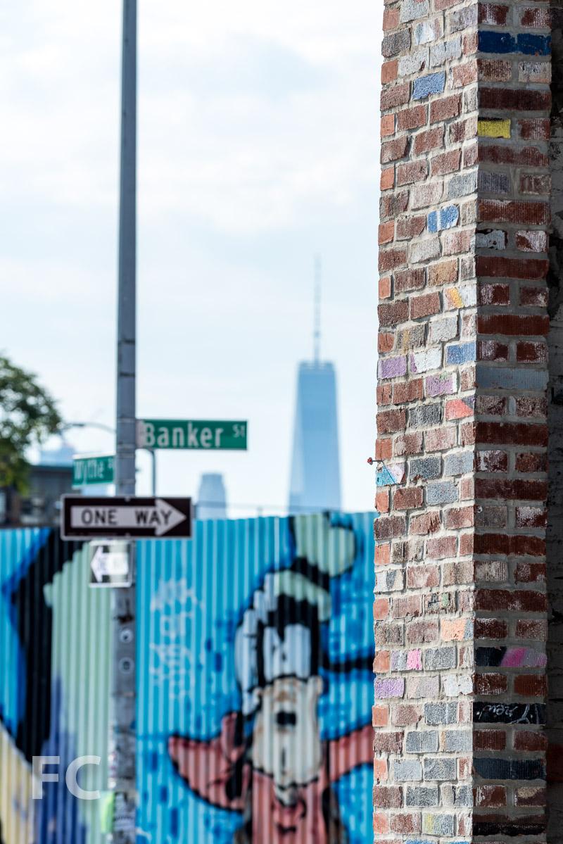 Brick facade close-up.