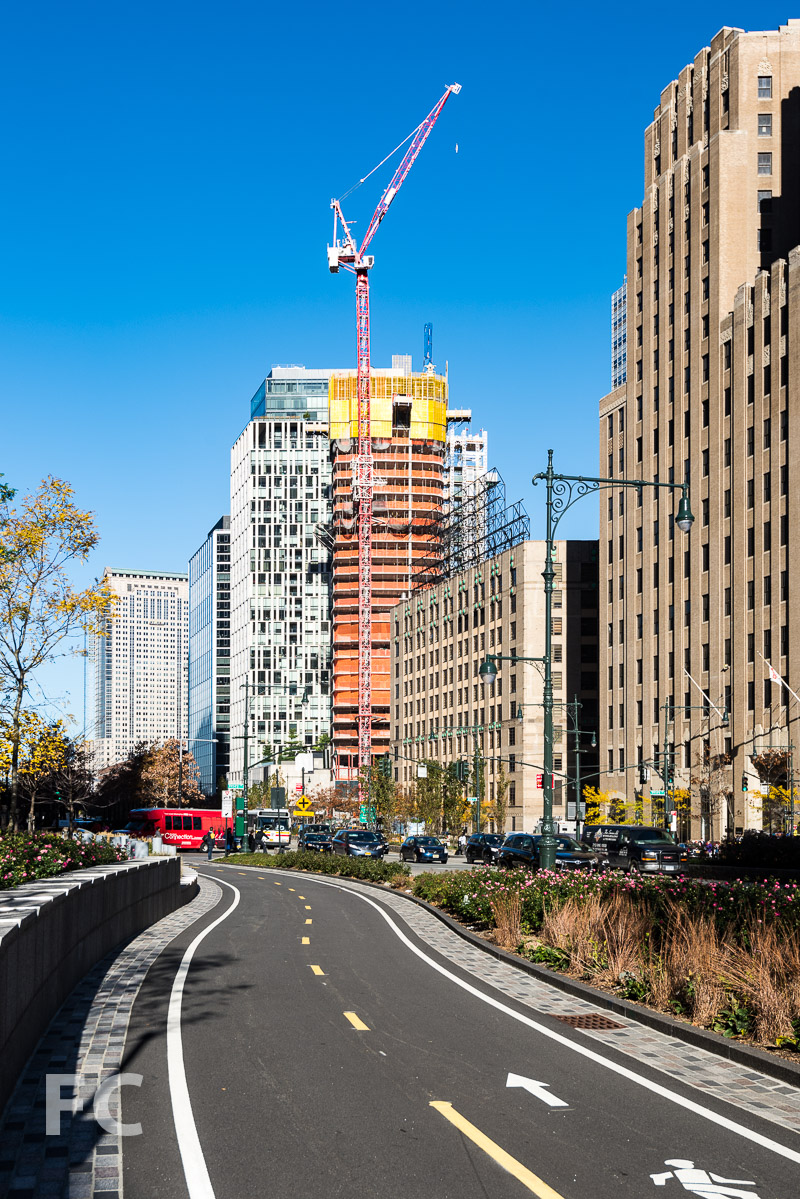 View from the Hudson River Greenway.