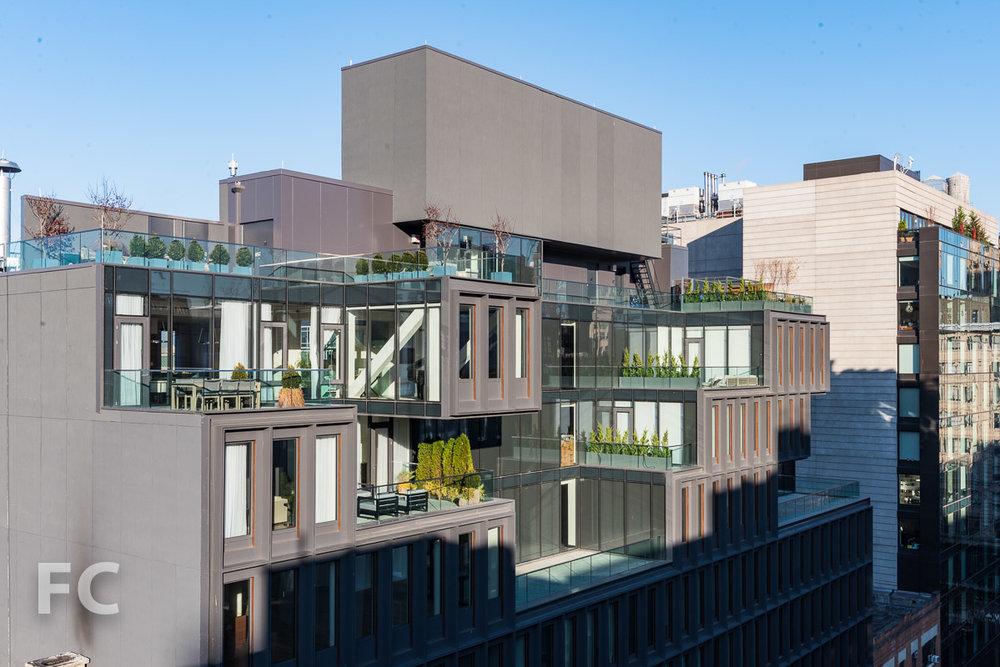 Penthouse terraces.