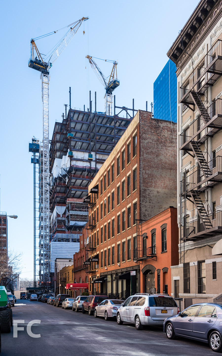 Northwest corner from East 74th Street.