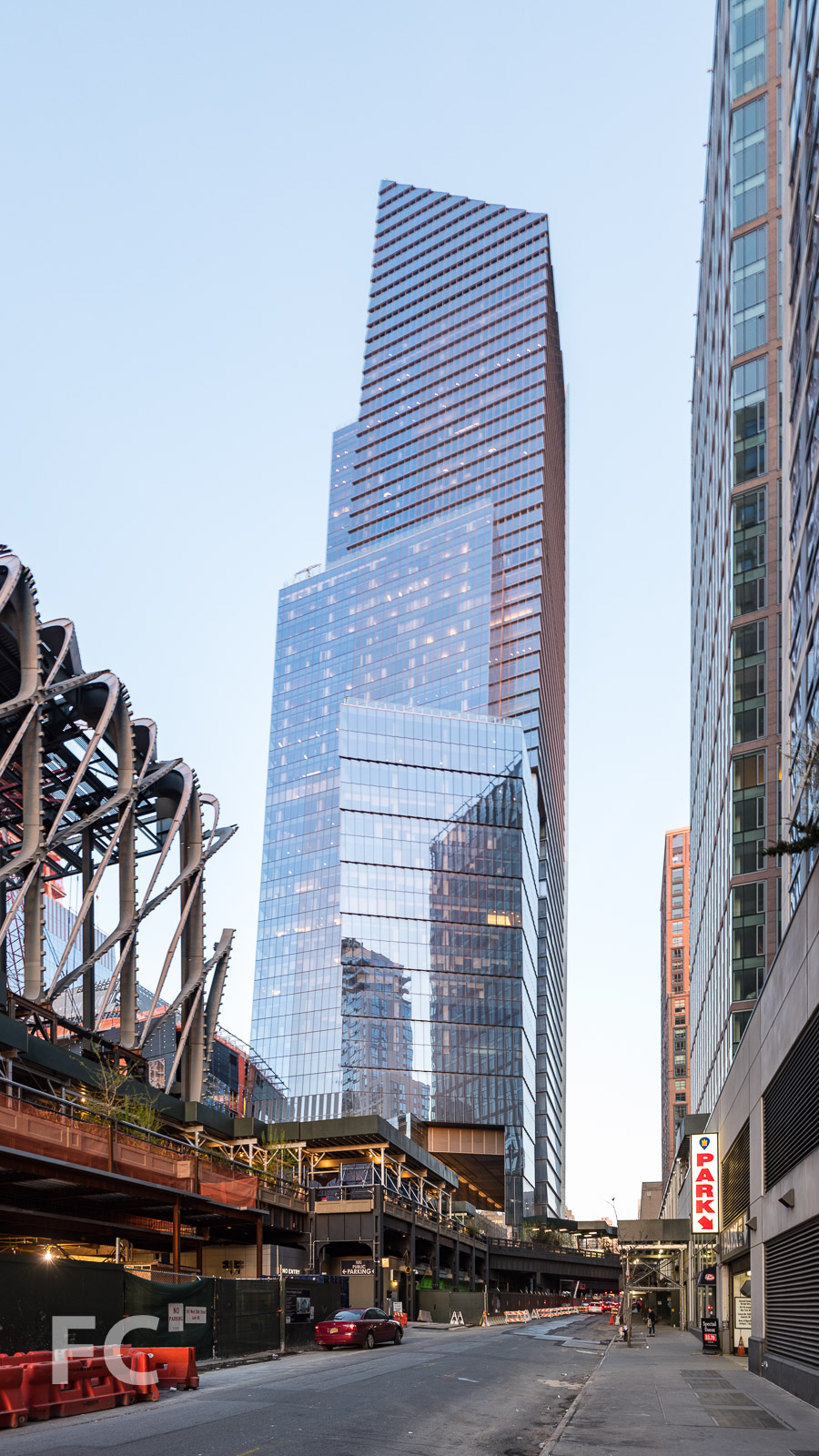 Southwest corner of 10 Hudson Yards.