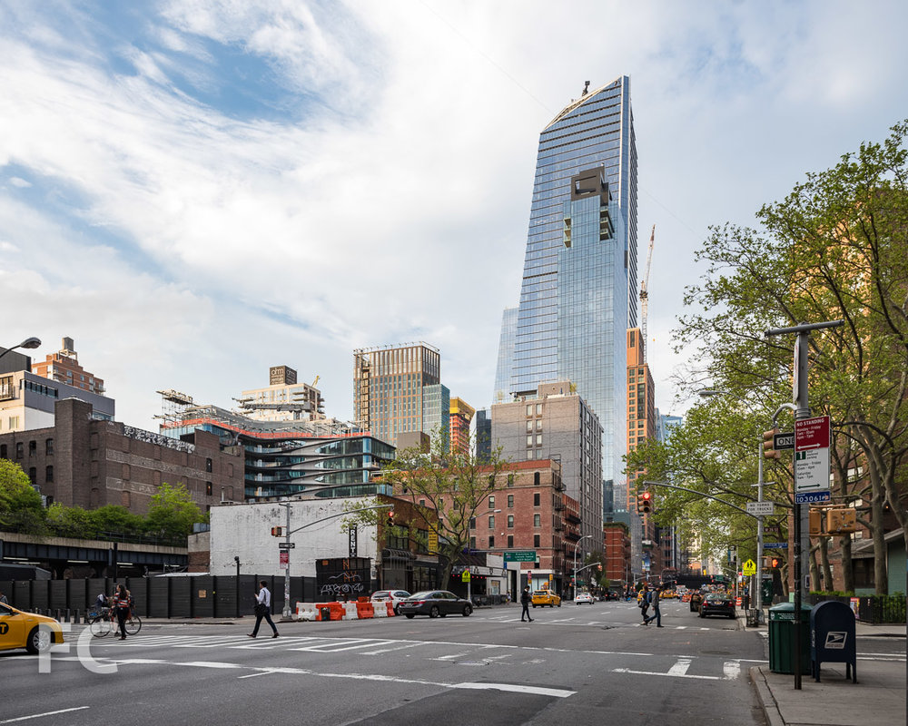 Hudson Yards towers rising in Chelsea.