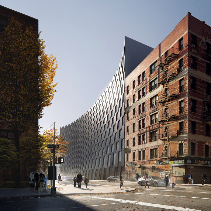 Rendering of the north façade from Lexington Avenue. BIG/ Bloomimages