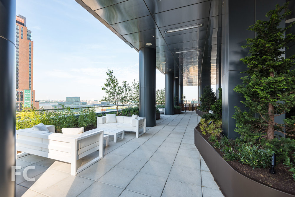 Outdoor terrace at the 12th floor.