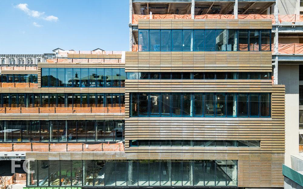 East façade.