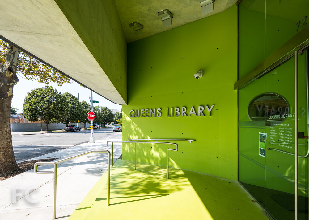 Library entrance.