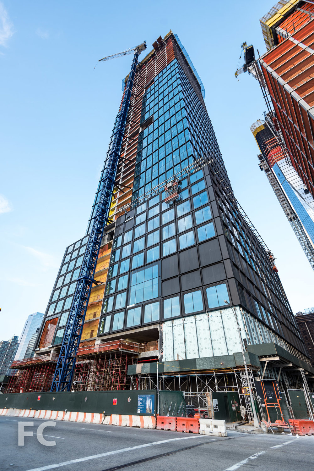 Southwest corner of 55 Hudson Yards.