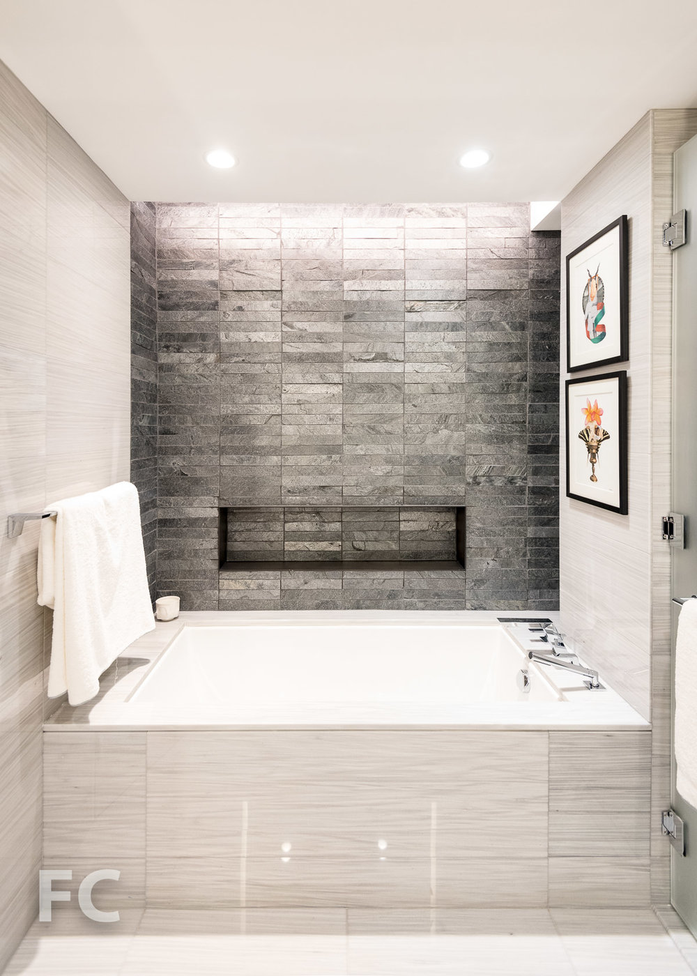 Master bathroom tub.