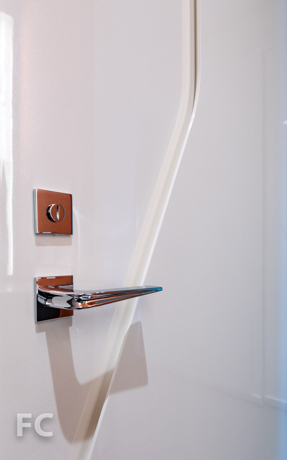 Powder room door handle.