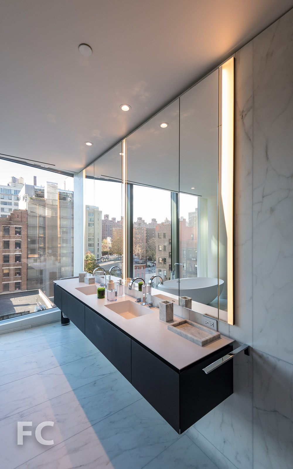Vanity in the master bathroom.