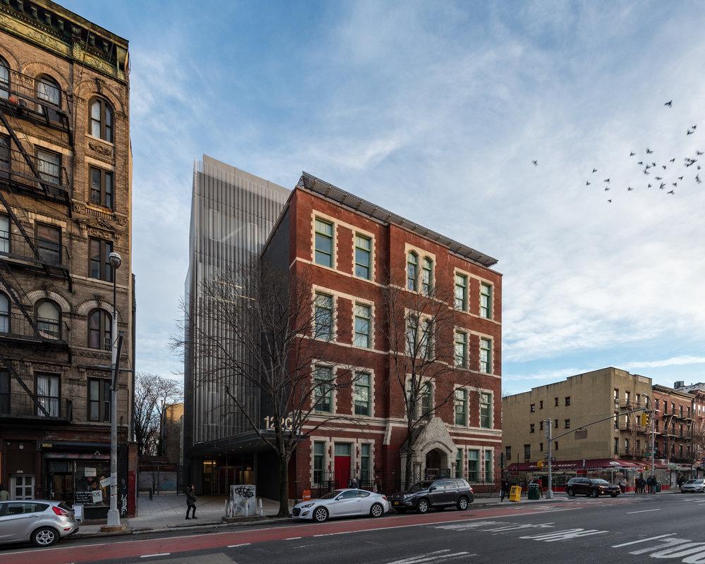 Northwest corner from First Avenue.