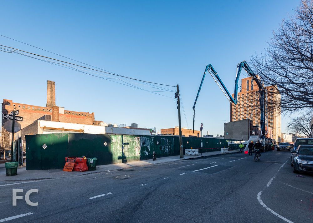 Southeast corner of the 360 Wythe site.