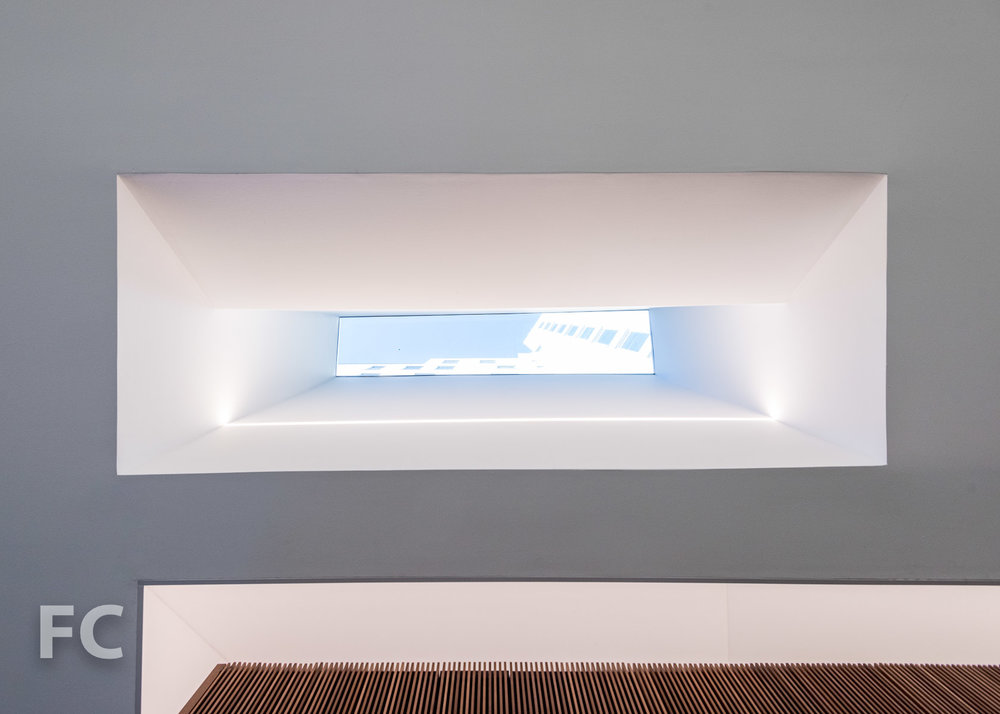 Skylight in the residential lobby.