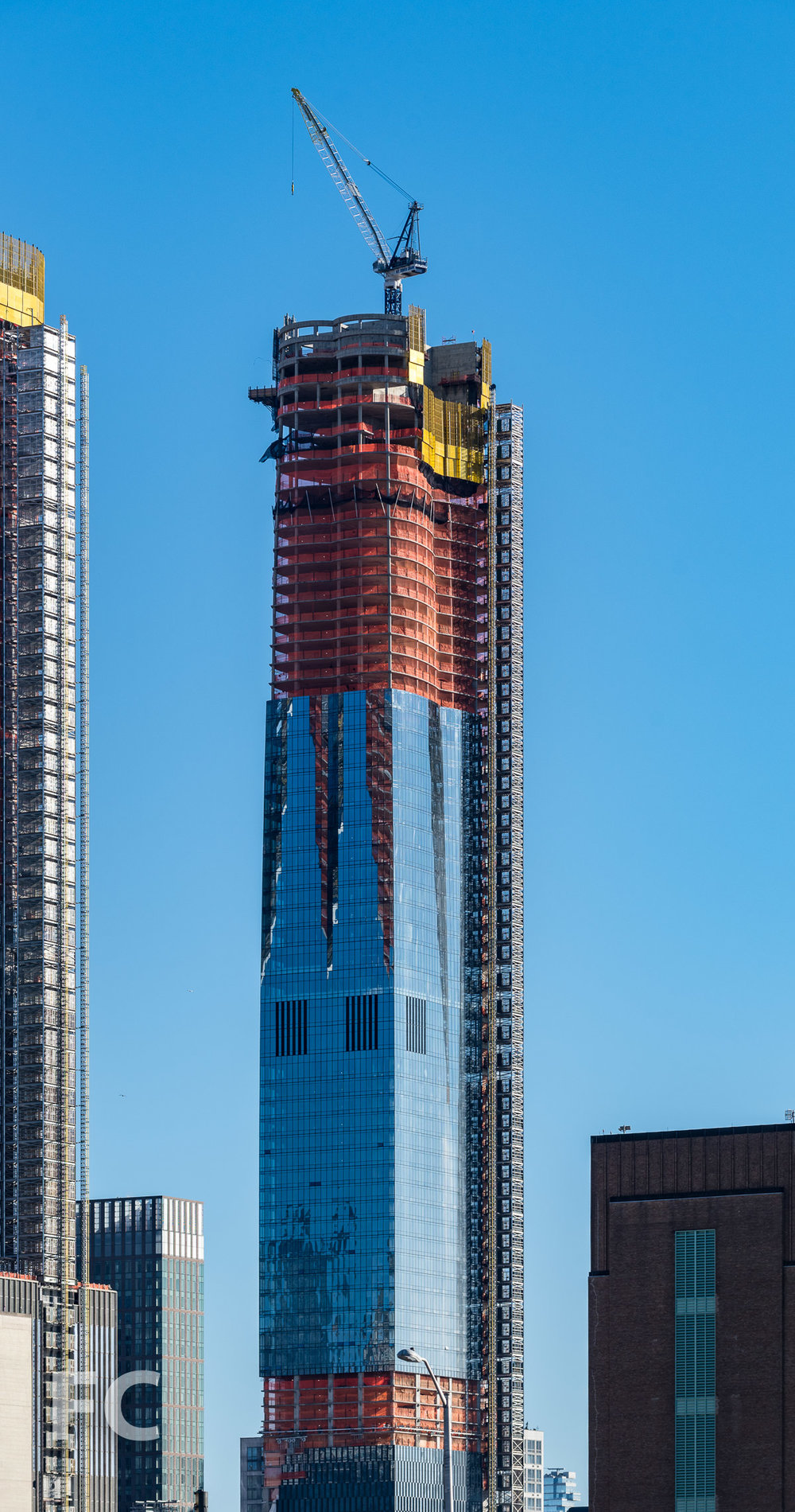 Northwest corner of 15 Hudson Yards.