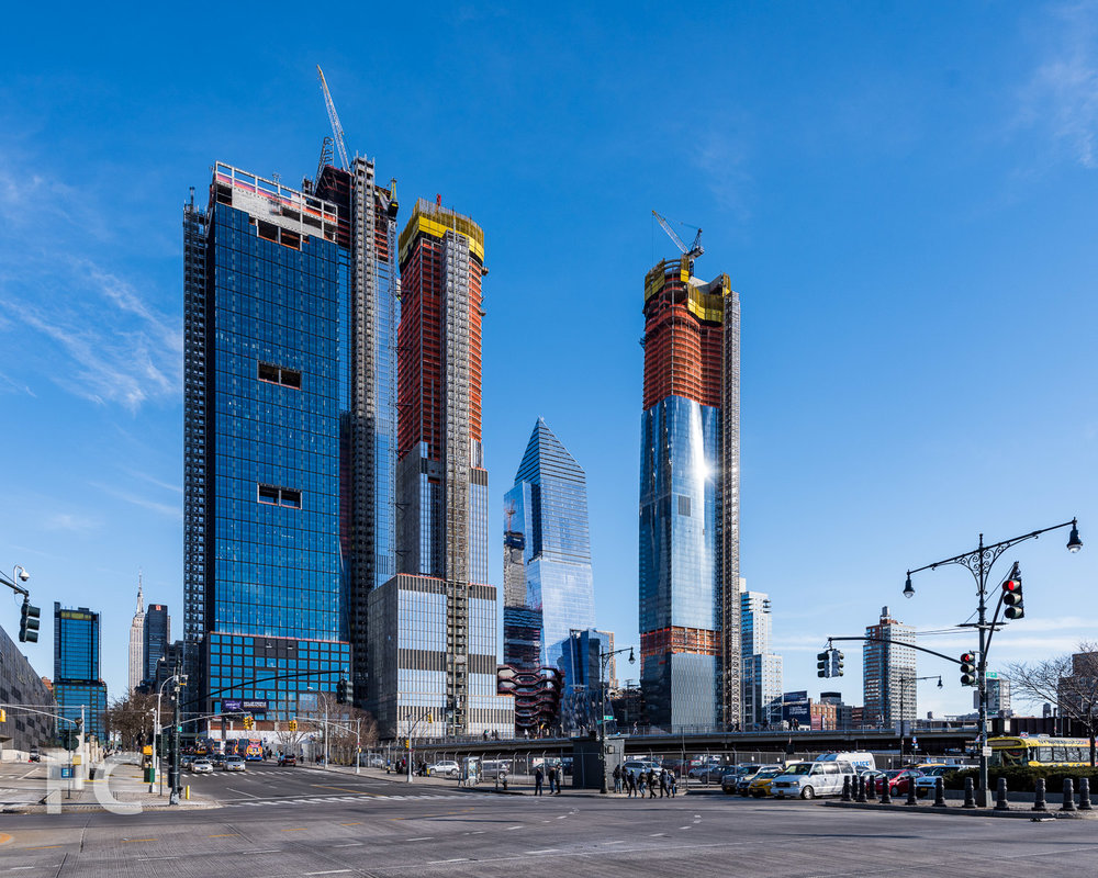 View of Hudson Yards from 12th Avenue.