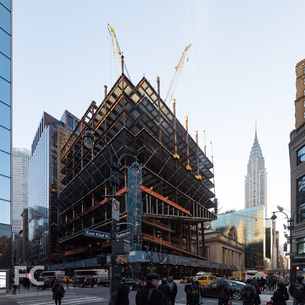 Southwest corner from East 42nd Street.