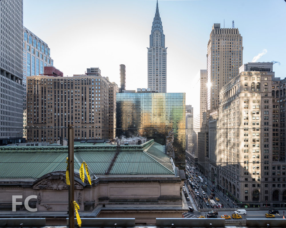 Looking east towards Grand Central Terminal and the Chrysler Building.
