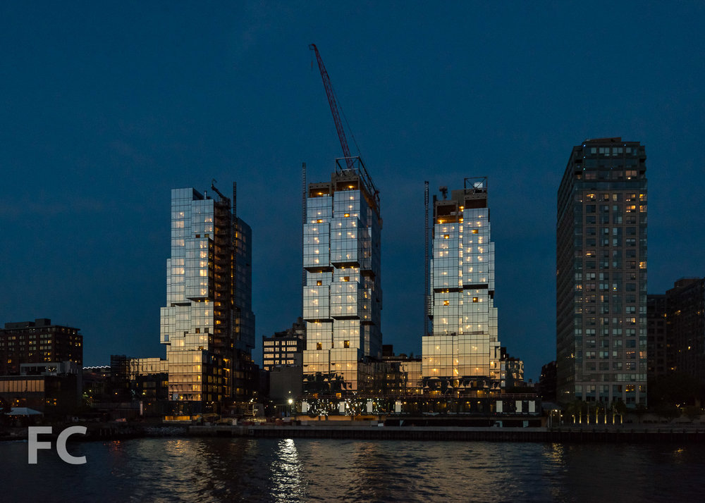 West facades from the East River.