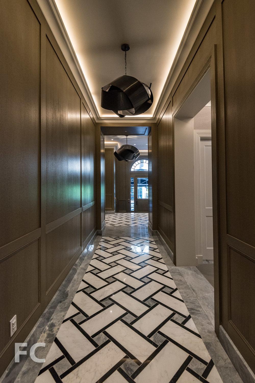 Residential entry corridor.