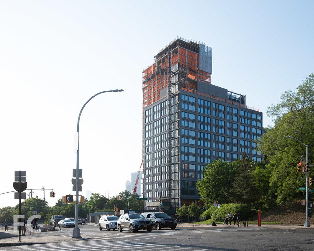 Southeast corner of 15 Bridge Park Drive.