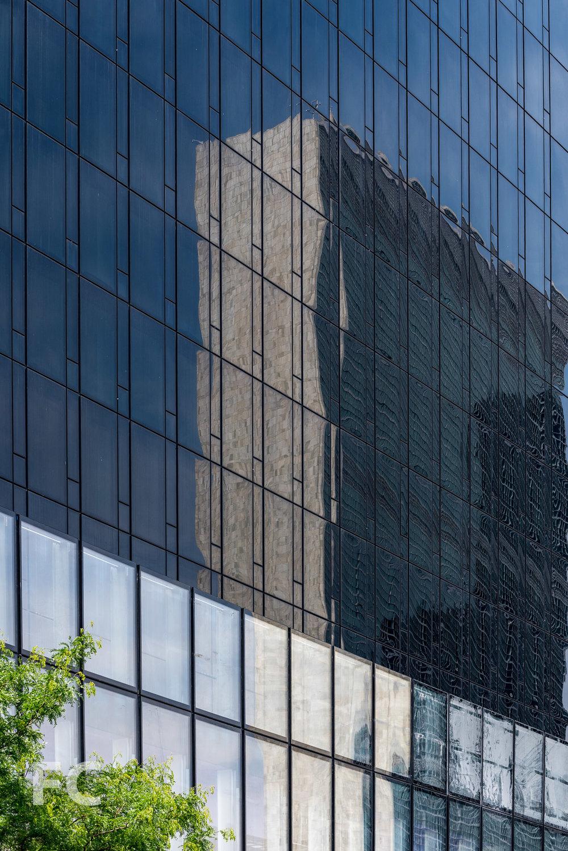 Close-up of the east façade.