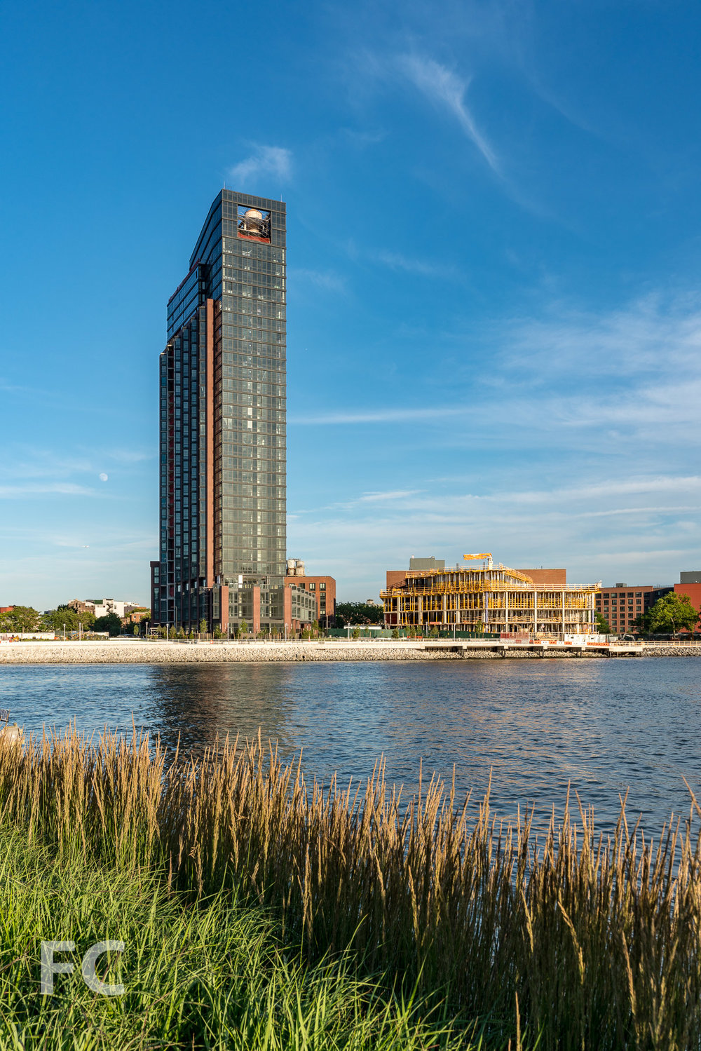 The first phase of market rate towers at Greenpoint Landing.