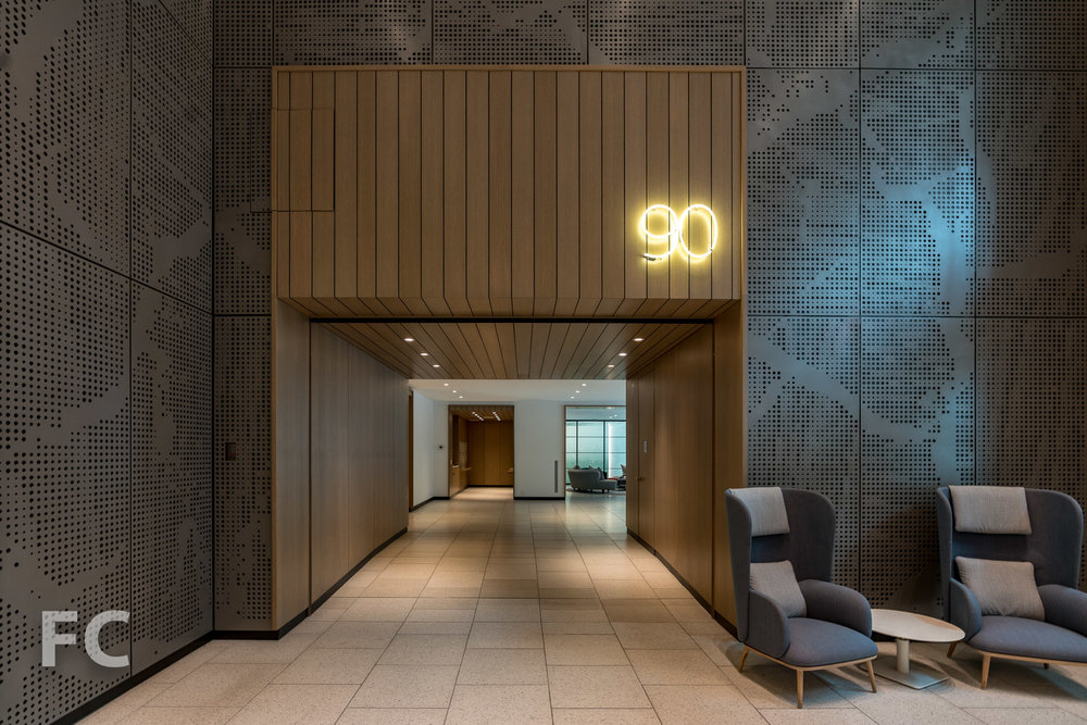 Entryway to 90 Lexington from the residential lobby.