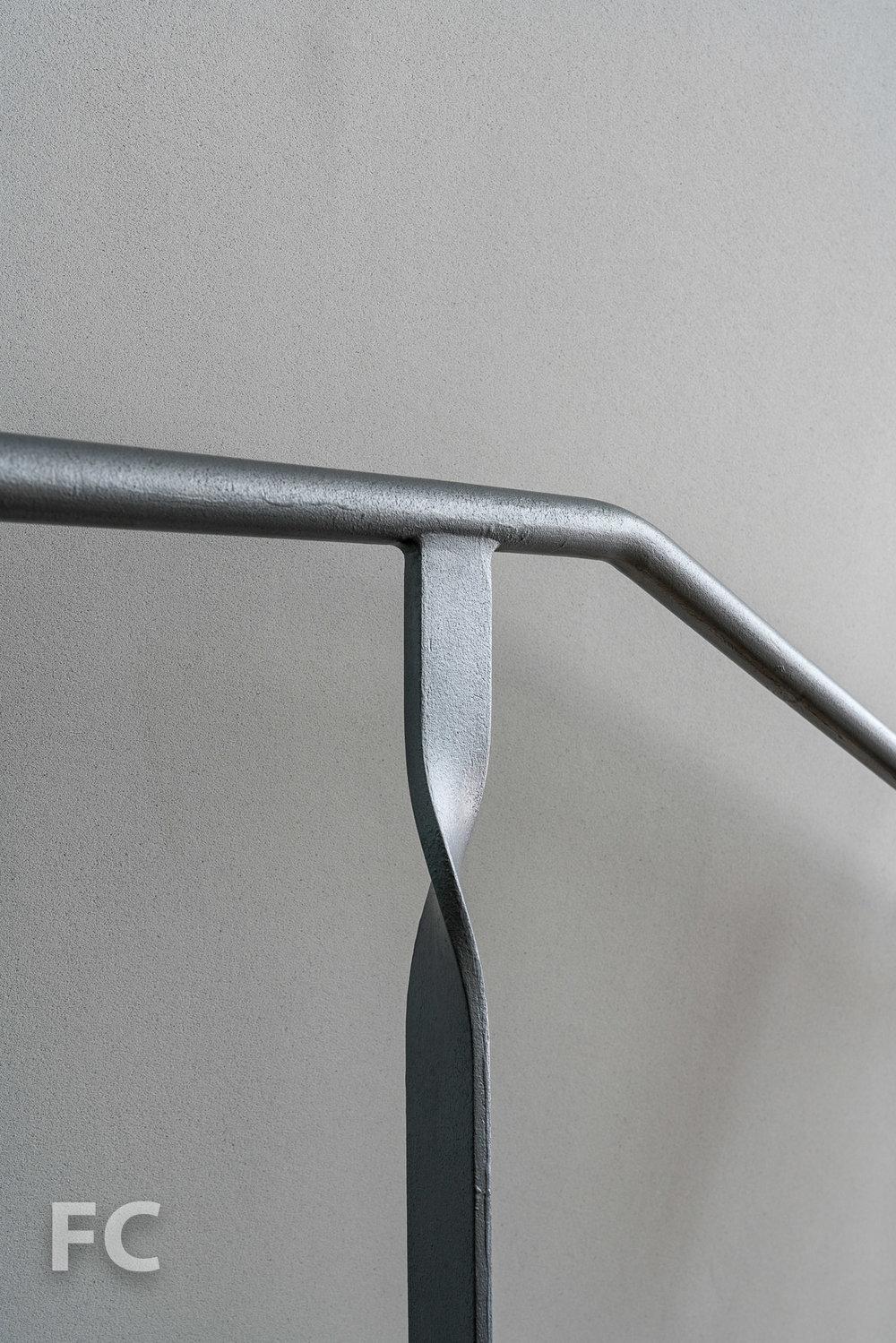 Stair railing detail.