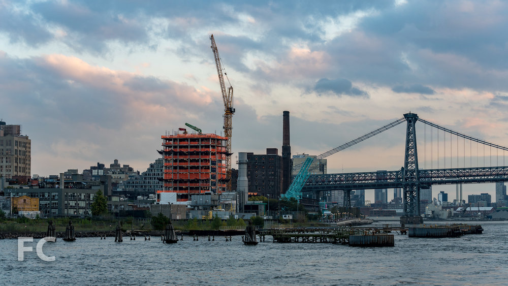 Northwest corner from the East River.