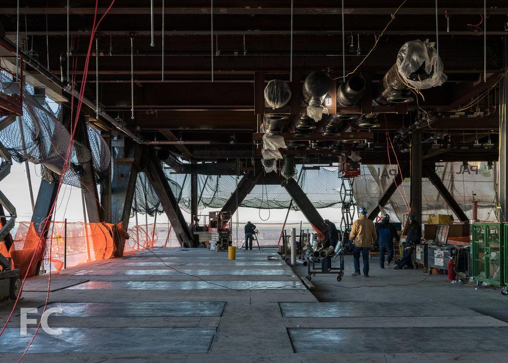Mechanical floor of One Manhattan West.