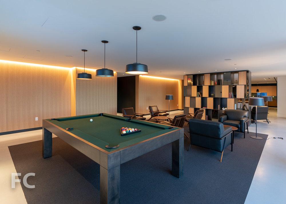 Entertainment lounge.