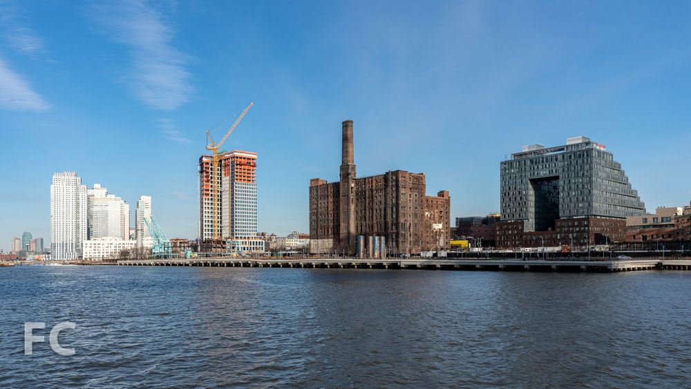 Domino Sugar development with 327 Kent (right) and 1 South First (left).