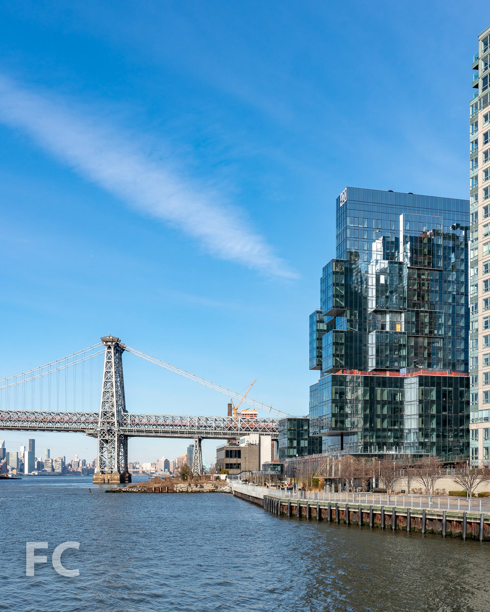 Southwest corner from the East River.