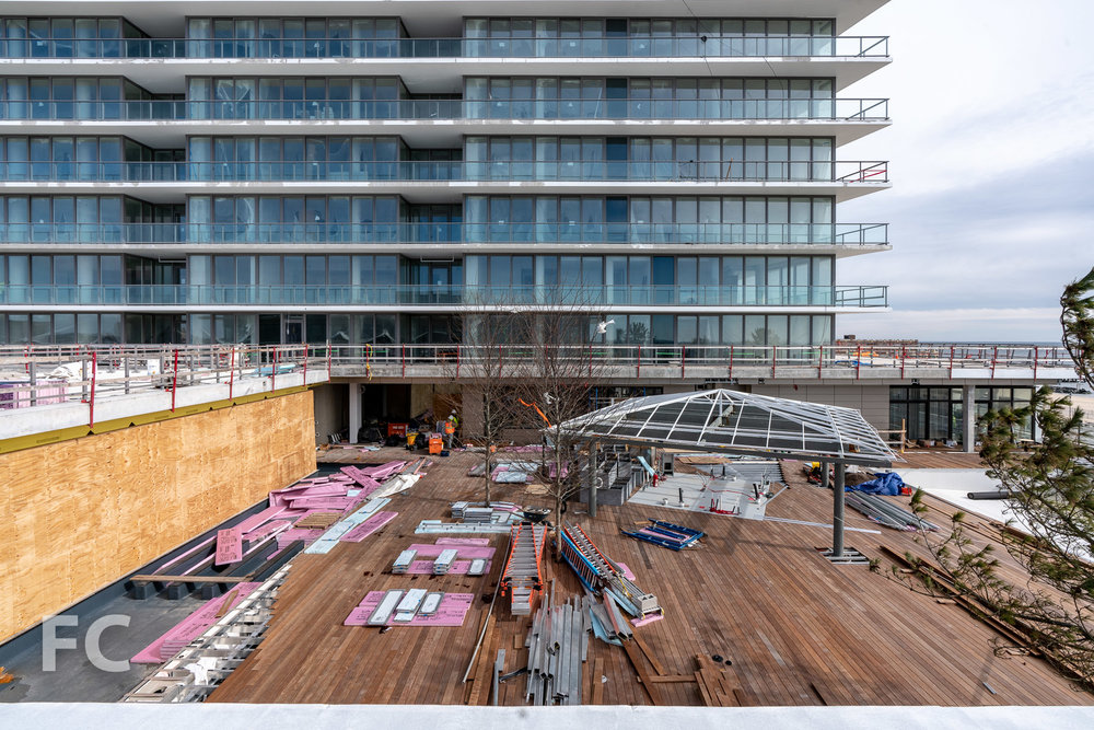 Future amenity terrace.