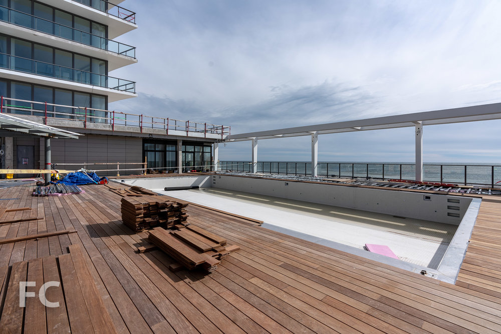 Future amenity deck with pool.