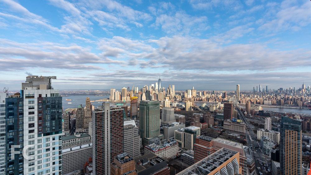 View northwest towards Lower Manhattan from an upper floor.