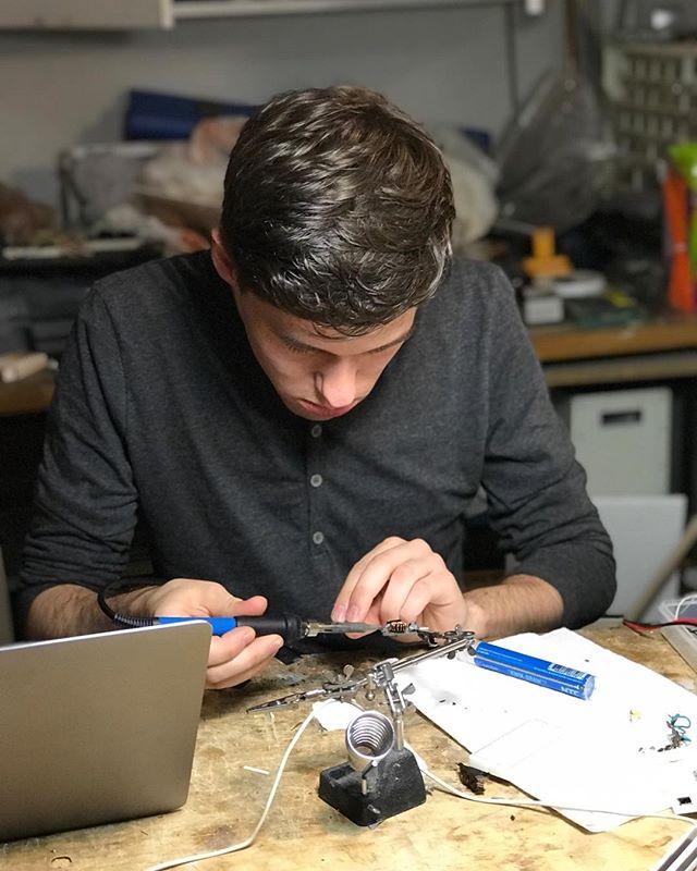 @michaelmorath making the magic happen #industrialdesign #design #nyc #techlab #startup #productdesign